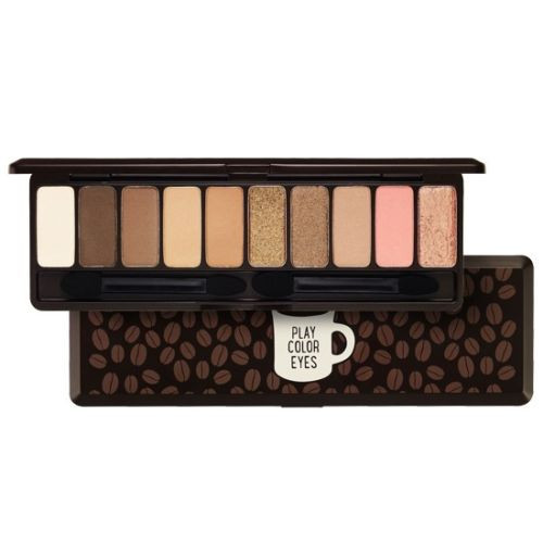 Etude House Play Color Eyes In The Cafe 1g X 10 Colors Eye Shadow Palette Brown