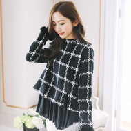Plaid Chiffon Stitching Shirt