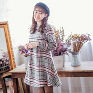 Plaid Bow Knot Dress