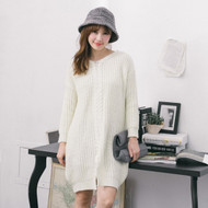 Front Slit Knit Long Sweater