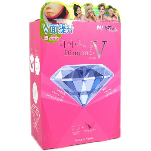 Mask House Korea Diamond V-Fit Slim Moisture 5 Mask + 1 Face Lifting Band