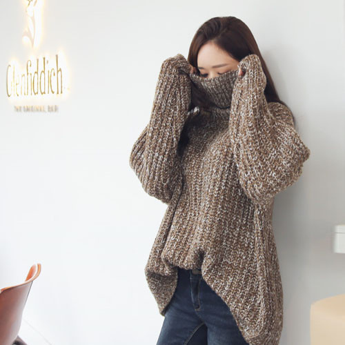 Casual Turtle Neck Pull Over Sweater