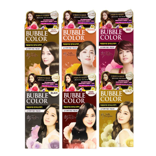ELASTINE Perfumed Bubble Color Hair Coloring Dying Kit
