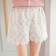 Women Crochet Lace Shorts