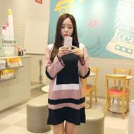 Color Block Mini Knit Dress