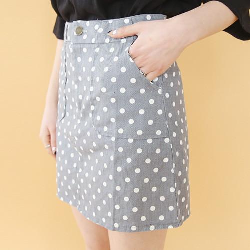 Dot Pocket Skirt