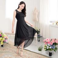 Woven Flower Chiffon Dress