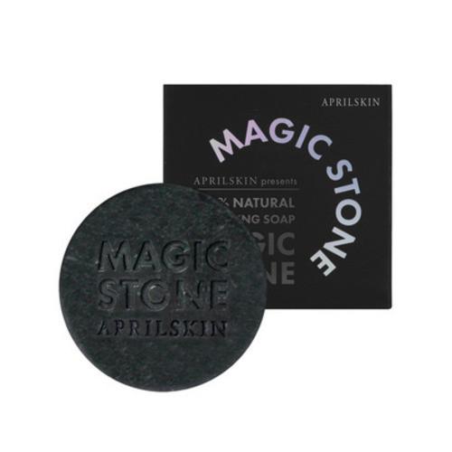 APRIL SKIN Magic Stone Cleansing Soap Black