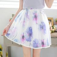 Umbrella Flower Print Skirt