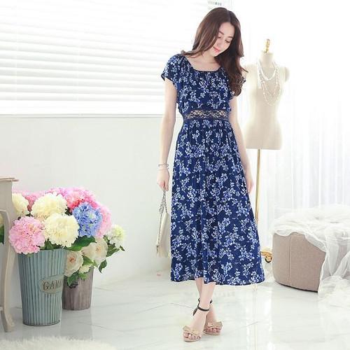 Lace Flower Maxi Dress
