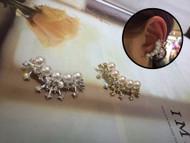 Curved Pearl Earrings
