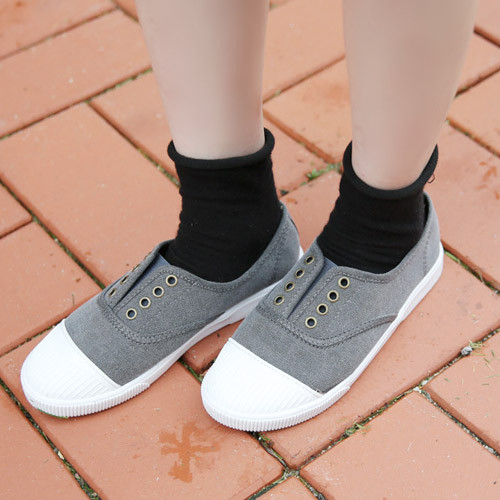 No-Lace Slip-On Sneakers