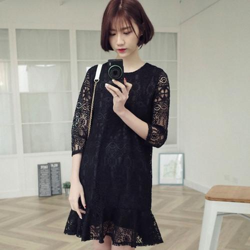 Black Swing Lace Dress