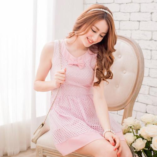 Bowed Lace Dress