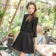 Lady Lace Stitching Dress