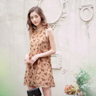 Elegant Flower Print Dress