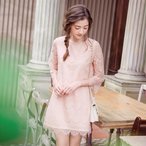 Lady Eyelash Lace Dress