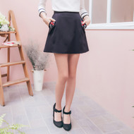 Embroidered Pocket Pants Skirt