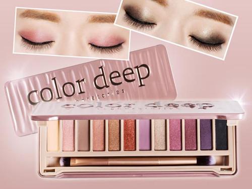 color deep Glam Shine Eyeshadow Box Palette