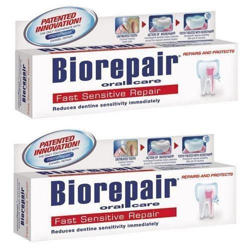 BioRepair Fast Sensitive Repair Toothpaste - 75ml (2 PACKS)