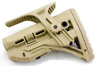 AIRSOFT M4 TAN DE CRANE STOCK BUTT ADJUSTABLE SNIPER CHIN REST WITH SINGLE POINT