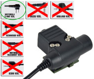Airsoft Ptt Radio Button Ztactical Z Sordins U94 Motorola 2 Way 2 Pin Switch