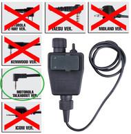 AIRSOFT TOMTAC TEA PTT BLACK 2 WAY RADIO SWITCH SORDINS COMTAC MOTOROLA 1 PIN