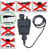 AIRSOFT TOMTAC TEA PTT BLACK 2 WAY RADIO SWITCH SORDINS COMTAC KENWOOD 2 PIN