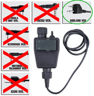 AIRSOFT TOMTAC TEA PTT BLACK 2 WAY RADIO SWITCH SORDINS COMTAC MIDLAND 2 PIN