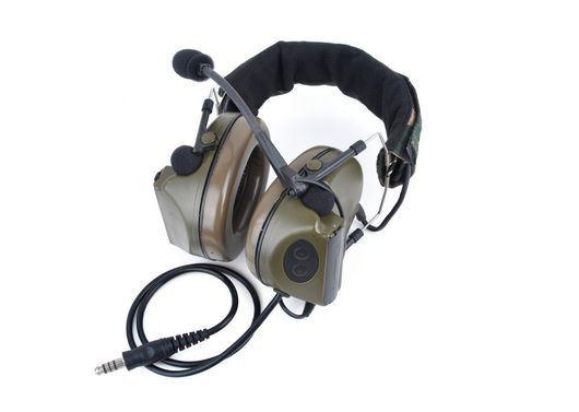 c9760f5865f ... AIRSOFT Z tactical ZSordin Headset MIC BOOM RADIO PELTOR COMTAC 2  WOODLAND UK. Image 1