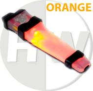 AIRSOFT V-LITE LED SAFETY LIGHT ORANGE HELMET V LITE E LITE E-LITE BLACK