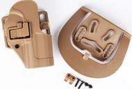 AIRSOFT CQC SERPA PISTOL BELT HARD Holster for G17 G18 G22 TAN SAND UK