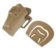 AIRSOFT CQC SERPA PISTOL BELT HARD Holster for SIG P220 P226 TAN SAND DE UK