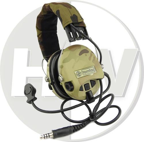 6820691cf37 AIRSOFT TOMTAC SORDIN HEADSET MIC BOOM RADIO MSA DESIGN WOODLAND MULTICAM -  HW Airsoft