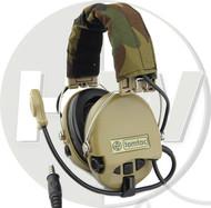 AIRSOFT TOMTAC SORDIN HEADSET MIC BOOM RADIO MSA DESIGN WOODLAND TAN DE
