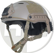 AIRSOFT CARBON PJ TYPE OPS CORE FAST BASE JUMP HELMET TAN SAND DE WITH ARC RAILS