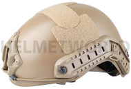 AIRSOFT MH TYPE OPS CORE FAST BASE JUMP HELMET TAN SAND DE WITH ARC RAILS