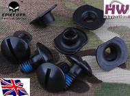 AIRSOFT SCREW SET FOR OPS CORE TACTICAL HELMET CARBON FAST JUMP RAIL UK