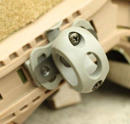 AIRSOFT AF OPS CORE GREEN OD FG HELMET 20mm TORCH MOUNT UK Crye Airframe RAIL