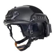 AIRSOFT OPS CORE BLACK SWAT TACTICAL MARITIME ABS HELMET JUMP RAIL L/XL