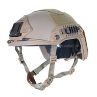 AIRSOFT OPS CORE TAN SAND DE SWAT TACTICAL MARITIME ABS HELMET JUMP RAIL L/XL
