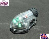 AIRSOFT LIGHT FLASHLIGHT IR GREEN HELMET MANTA STROBE BLACK UK