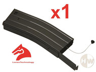 AIRSOFT M4 M16 SCAR METAL BLACK LONEX FLASH MAGAZINE MAG 360RDS ASG PULL CORD