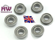 Airsoft Aeg Gearbox 9Mm Metal Bearings Set Qty Six Uk Delivery