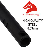 AIRSOFT INNER BARREL 6.01 6.3 6.03 TIGHT BORE UK 229 MM STEEL LONEX ASG M4 MP5