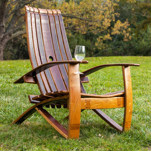 & Wine Barrel Adirondack Chair