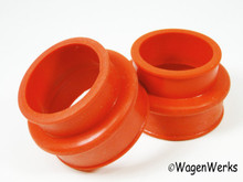 Intake Manifold Boots - Dual Port - Red Silicone