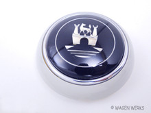 Horn Button - Type 2 1961 to 1967 - Crest - Silver Biege