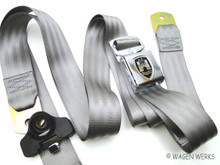 Seat Belt 3 point - Front Bug - Chrome Grey