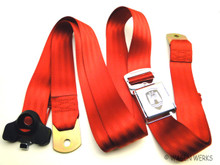 Seat Belt 3 point - Front Bug - Chrome Red